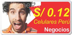 Celulares Peru a 0.12